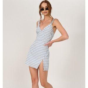 TOBI Gray Ella Gingham Mini Dress